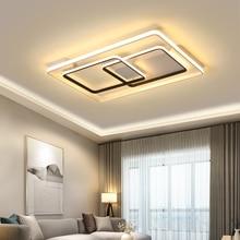 Square Circel Rings Ceiling Lights For Living Room Bedroom Home AC85-265V Modern Led Ceiling Lamp Fixtures lustre plafonnier цена и фото