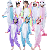 Newcosplay Children Unisex Unicorn Animal Kigurumi Onesie Pajamas Costume