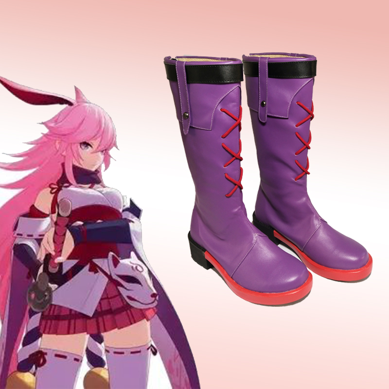 3D Vision Game Honkai Impact 3rd Yae Sakura Evil Witch Cosplay Shoes Z