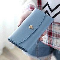 Femmes long embrayage portefeuille sac à main en cuir pour filles carte de crédit cas kawaii sac porte-monnaie femme téléphone portefeuille fille cadeau nouveau 2018