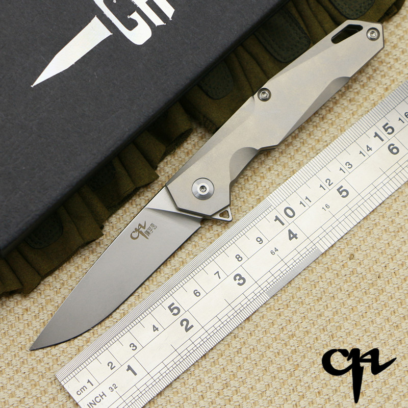 CH 1047 MINI original design Longwind ball bearing Flipper handle AUS-8 blade folding knife camping hunt survival outdoor tool outlife new style professional military tactical multifunction shovel outdoor camping survival folding spade tool equipment