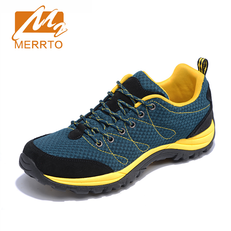 ФОТО 2017 MERRTO Men Walking Shoes Outdoor Shoes Breathable Sneakers Cow Suede For Men Free Shipping MT18556