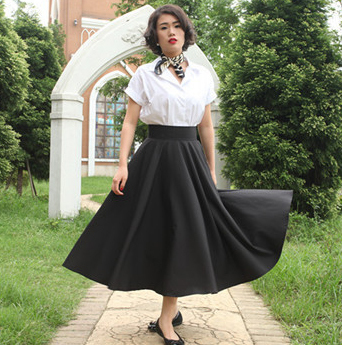 2015 Summer Audrey Hepburn classic retro elegant Skirt fashion Vintage Maxi  Long Black Blue Ladies Skirts-in Skirts from Women s Clothing on  Aliexpress.com ... 2e7a94fa423