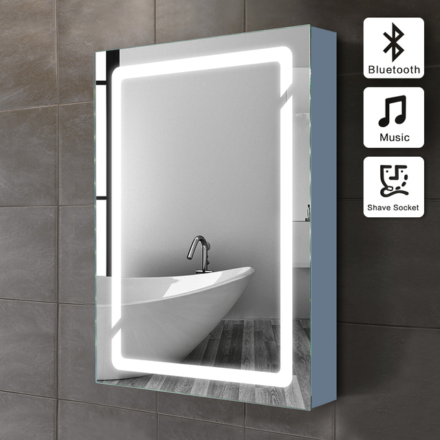 01 50x70 cm Beleuchtet Badezimmerspiegelschrank mit Sensor und ...
