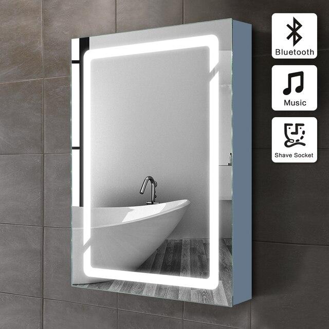 01 50x70 cm illuminato armadietto specchio del bagno con sensore e presa rasoio in 01 50x70 cm - Armadietto bagno con specchio ...