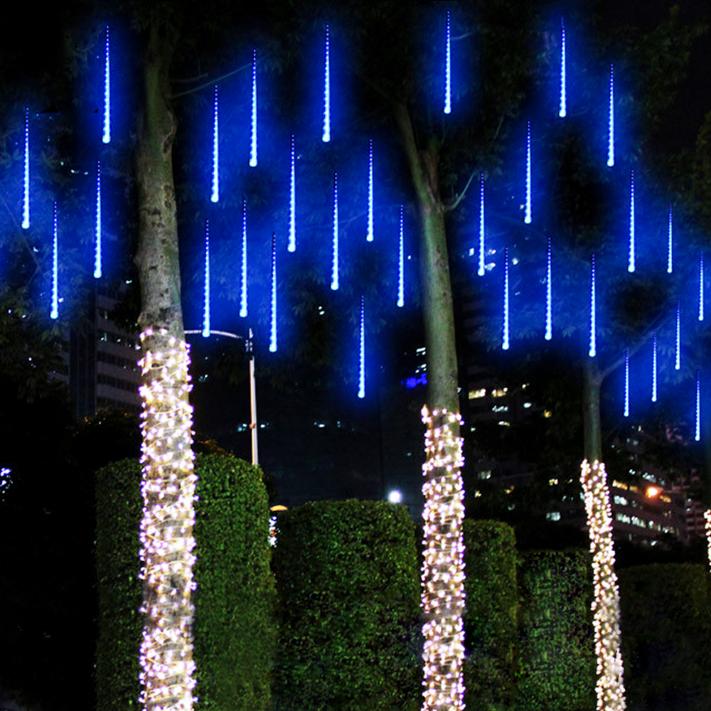 50CM Meteor Shower Rain Tubes LED Christmas Lights outdoor ...