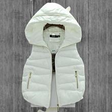 2016 autumn& winter vest female short paragraph Korean version of Slim Hooded down cotton vest women cotton vest waistcoat W292