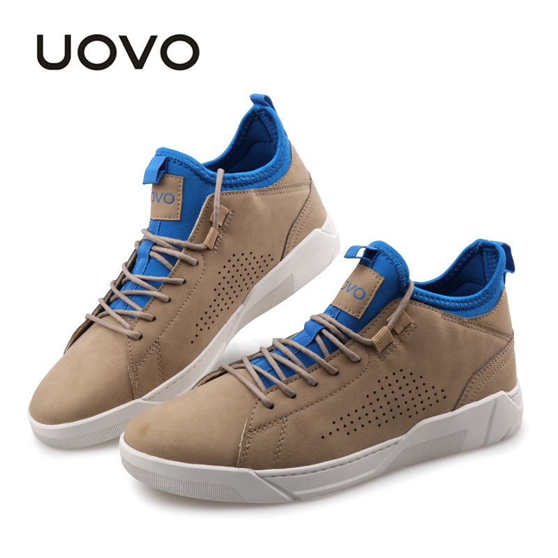 Walking Shoes Men 2019 UOVO New Design Slip on Sock Style Vulcanized Flat Shoes With Durable