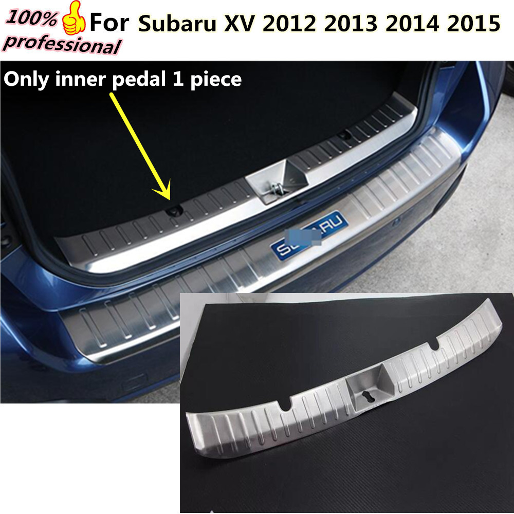 Car body inner internal Rear Bumper trim styling Stainless Steel plate pedal lamp frame 1pcs For subaru XV 2012 2013 2014 2015 for porsche cayenne 2015 stainless steel outer rear bumper foot plate trim 1pcs car styling
