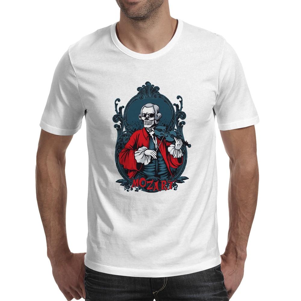 Skull musician Mozart camiseta Funny Anime Rock T Shirt Diseño - Ropa de hombre