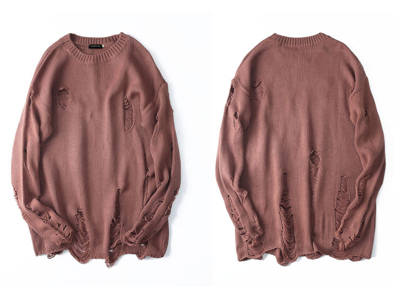 Ripped Destroyed Holes Distressed Sweaters 5