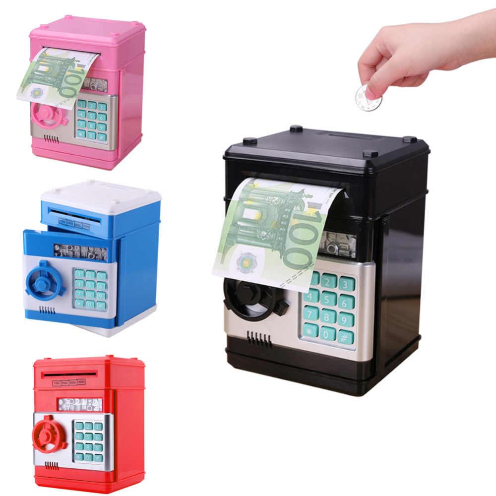 Electronic Piggy Bank Safe Money Box For Children Gift Digital Coins Cash Saving Deposit Atm Machine Pword