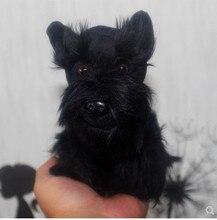 الأصلي جميل Schnauzer كلب محاكاة الحيوان لينة محشوة ألعاب من نسيج مخملي للأطفال هدية عيد ميلاد صديق girlfreind هدية