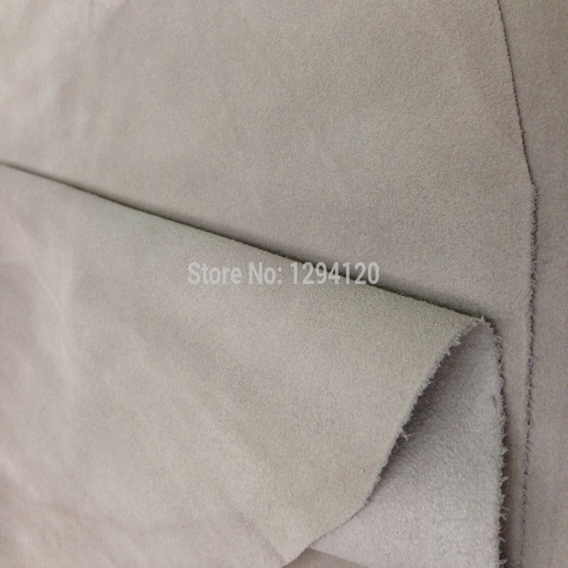 Taupe Genuine Cow   Suede     Leather   Fabric for Tod's/Boots/Hair accessory/DIY,Free Shipping