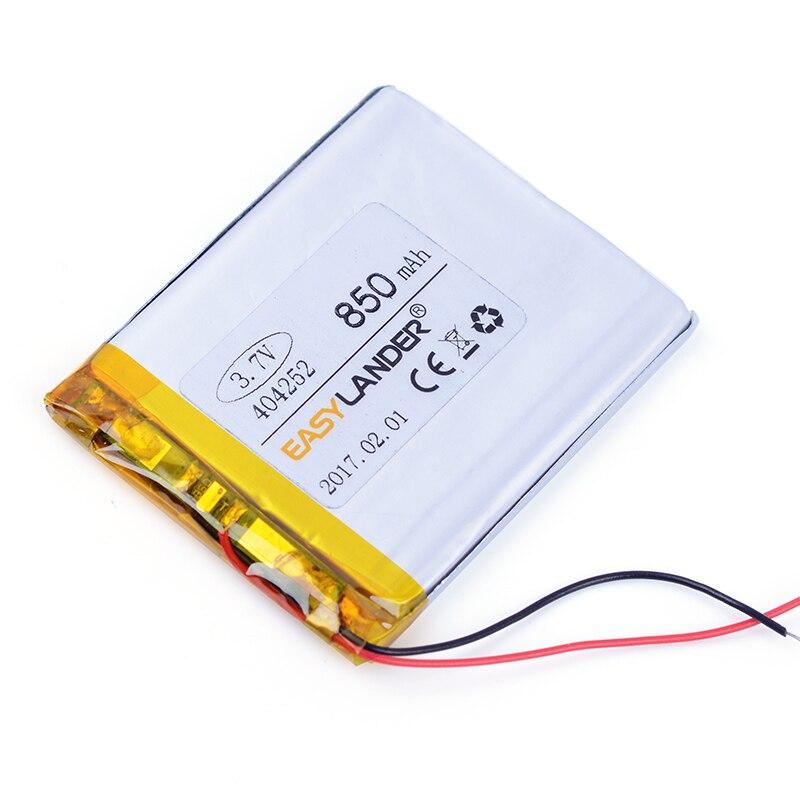 404252 3.7 V 850 mAh Rechargeable li-Polymère Batterie Pour Kobo Tactile E-book MP3 MP4 Lampe haut-parleur jouets Mobile puissance banque 404050
