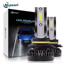 NLpearl 2 шт. авто лампы H7 светодио дный Canbus мини H1 H8 H9 H11 светодио дный автомобиля Headllight лампы 6000 К туман лампы 9005 HB3 9006 HB4 туман лампочки