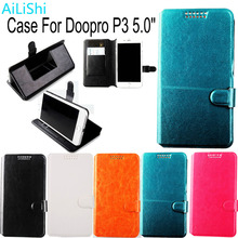 AiLiShi Factory Direct! Case For Doopro P3 5.0 Dedicated PU Leather Fashion Exclusive 100% Holder Card Slot +Tracking Hot