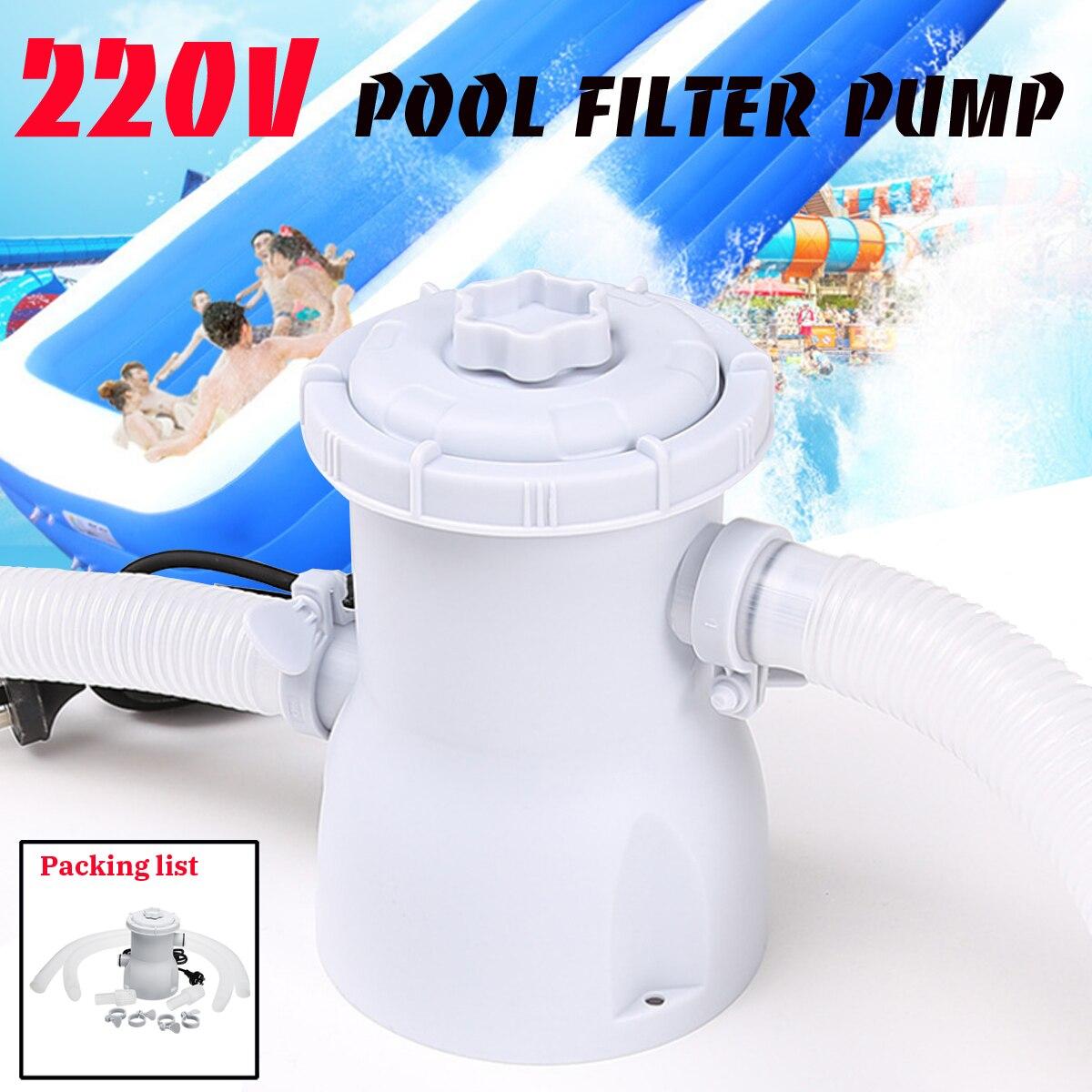 220 v Électrique Piscine Filtre Pompe Pour Piscines Hors Sol De Nettoyage Outil ROYAUME-UNI