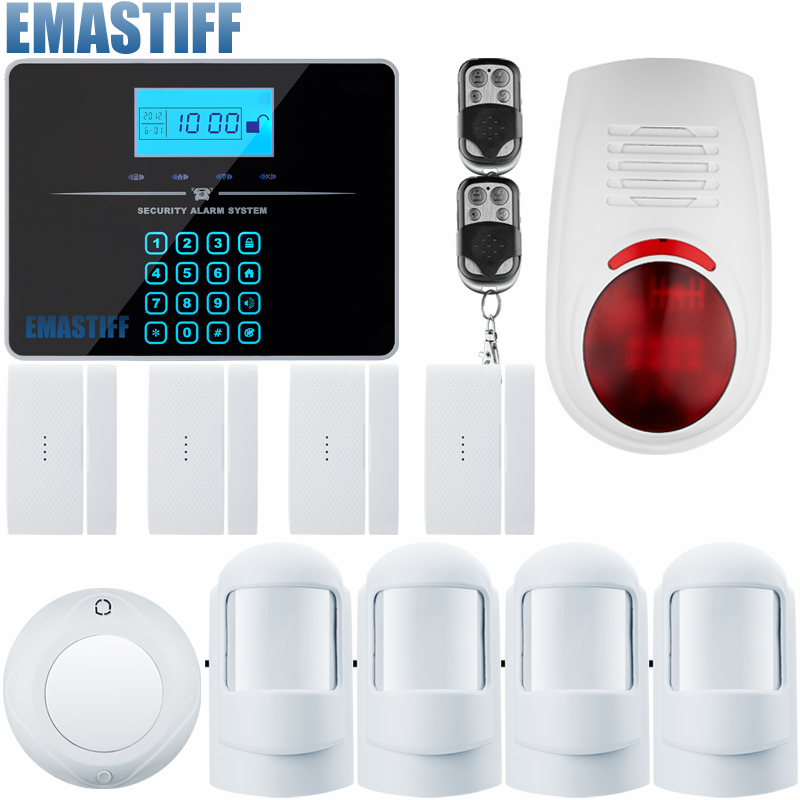 Door Window Entry Security Wireless Remote Control Door Sensor GSM Alarm Host Burglar Security Alarm System Home Protection Kit safurance lcd wireless gsm home burglar alarm system motion door window sensor home security safety