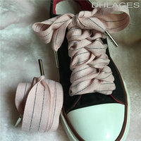 Free Shipping 25MM Flat Shoelaces Kids Voile Shoe Laces Girls Ribbon Laces