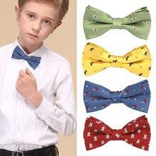 Новые дети мальчик галстук-бабочка для девочки галстук подарок мода для свадьбы школы вечерние смокинг