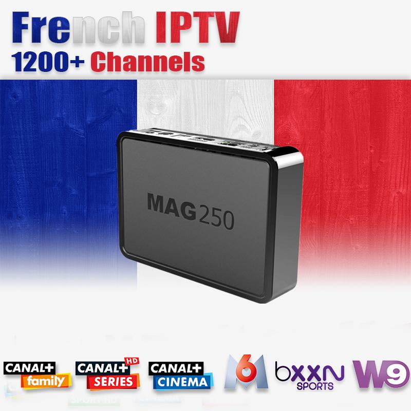 Prix pour Mag250 + Français Arabe IPTV Ski IL/DE/ROYAUME-UNI MBC Be1n Canal + VOD 1200 Canaux Linux OS 2.6.23 processeur STi7105 MAG 250 Set Top Box