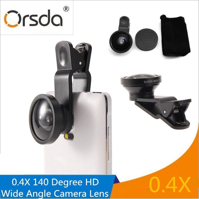 Orsda Universal Clip 0.4X 140 Degree HD Super Wide Angle Selfie Camera