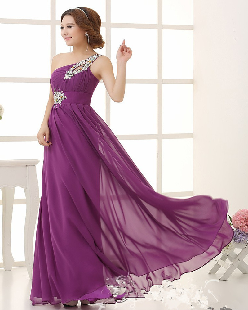 Popular bridesmaid dresses one shoulder coral color buy cheap custom colors and sizes one shoulder coral colored and purple bridesmaid dresses cheap bridesmaid dresses under ombrellifo Images