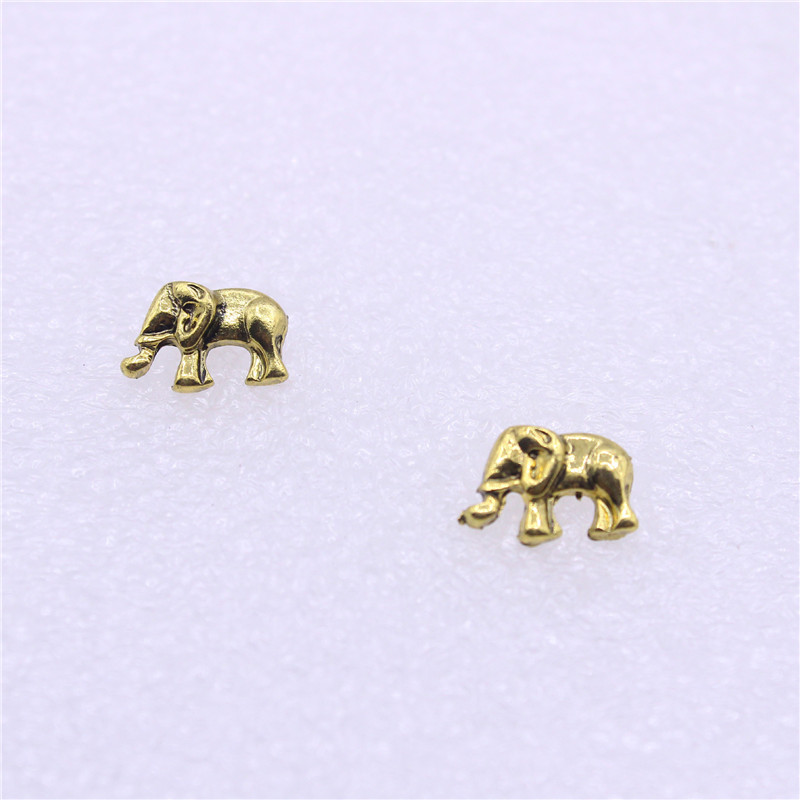 small jewelry elephant blue stone stud pairs studs women boho item gold earrings vintage color in set red from accessories men for