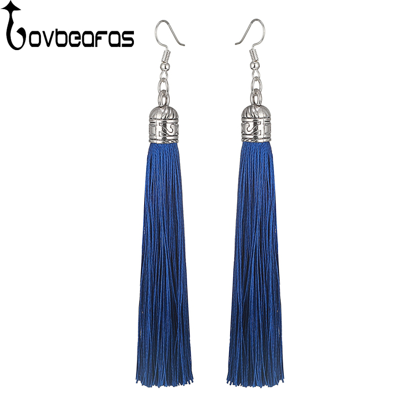LOVBEAFAS Brand Tassel Earrings Women Fashion