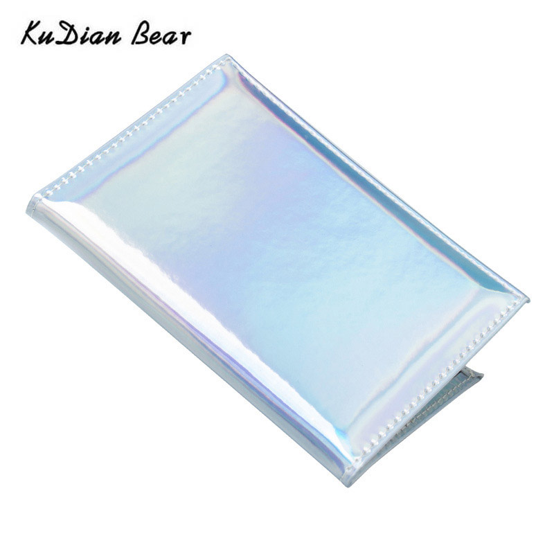 KUDIAN BEAR Holographic Passport Cover Designer Passport Holder Travel Card Holder Case Card Wallet For Documents BIH088 PM49