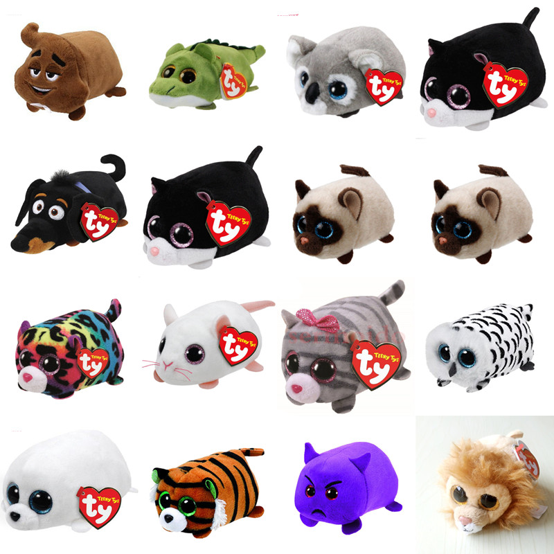 sermoido TY Beanie Boo Teeny Tys Plush Blue Owl 9cm Original Ty Beanie Boos Big Eyes Dog Plush Toy Doll Baby Kids Gift DBP117 gonlei ty beanie boos original big eyes plush toy doll child birthday gray elephant fish ty baby 10 15cm