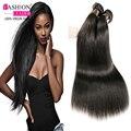 Brazilian Virgin Hair With Ear to Ear Lace Frontal 7A Grade Brazilian Straight 3 Bundles Brazilian Virgin Hair With Closure