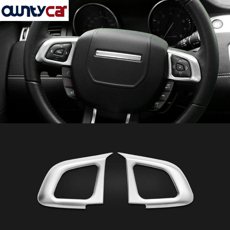 Chrome Steering Wheel Button Frame Cover Trim For Land