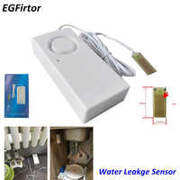 2Pcs Security Alarm Stand Alone Water Leakage Alarm Detector Flood Alert Overflow Home Alarm System For Kitchen