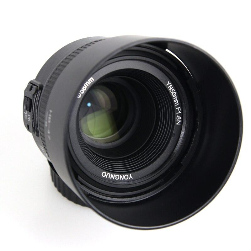 D'origine YONGNUO YN 50mm f/1.8 Objectif AF YN50mm Ouverture Auto Focus Grande Ouverture pour Nikon Canon DSLR Caméra + Capot + filtre