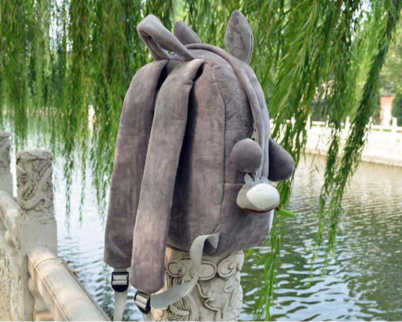 Totoro Children Backpack Plush Baby School Bag Teenagers Shoulder Bag Kid Hayao Miyazaki Toys Boy Girl Schoolbags Mochila BP0175 (4)