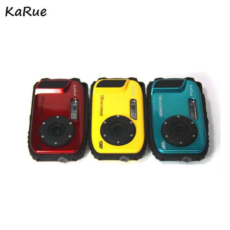 karue Hot New 2.7inch LCD Anti shake Cameras 16MP Digital Camera Underwater 10m Waterproof Camera 8X Zoom Video Camcorde