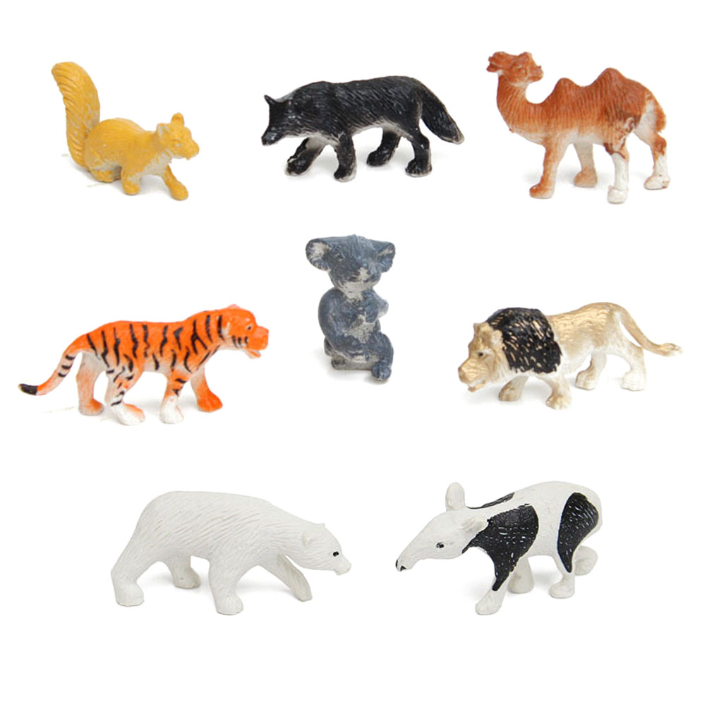 Action-Set Animal-Figure Paly-Decor Party-Game Tiger-Lion Toys Plastic Mini Kids Gift