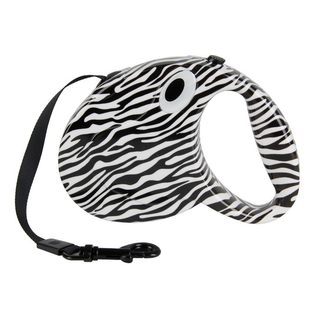 Dog's Zebra Print Auto Leash