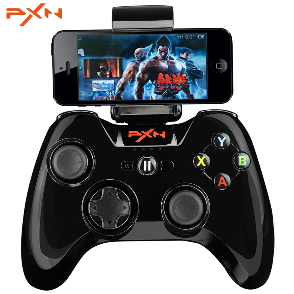 PXN PXN-6603 Portable Joystick Vibration Handle Gamepad MFi Certified Wireless Bluetooth Game Controller For iphone/ipad/App TV adjustable wireless bluetooth game controller gamepad joystick video game pad handle for iphone pod pad android phone pc tv