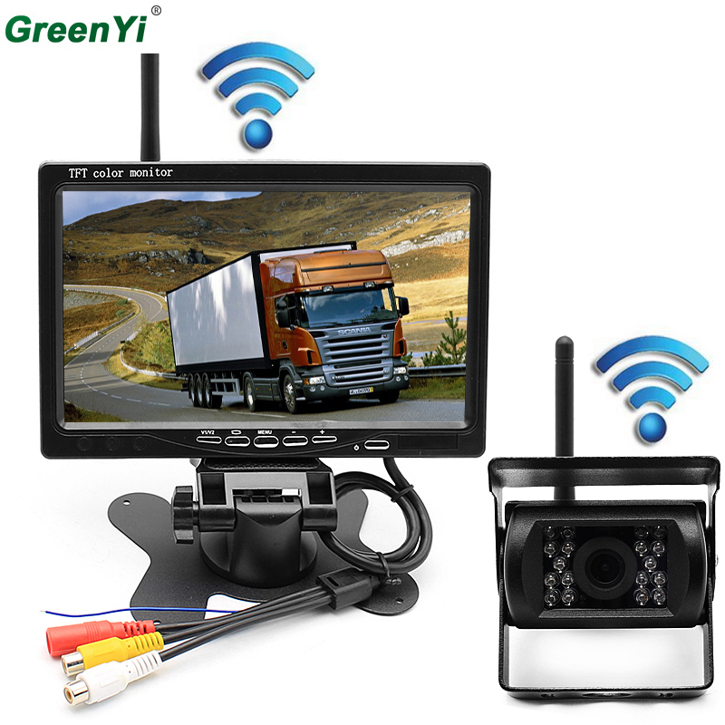 Car Parking Assistance System 2.4 GHz Wireless Rear View Camera + 2.4 GHz Wireless 7 inch Car Monitor Fit For Auto Truck Van Bus платье brusnika brusnika br032ewwsq23