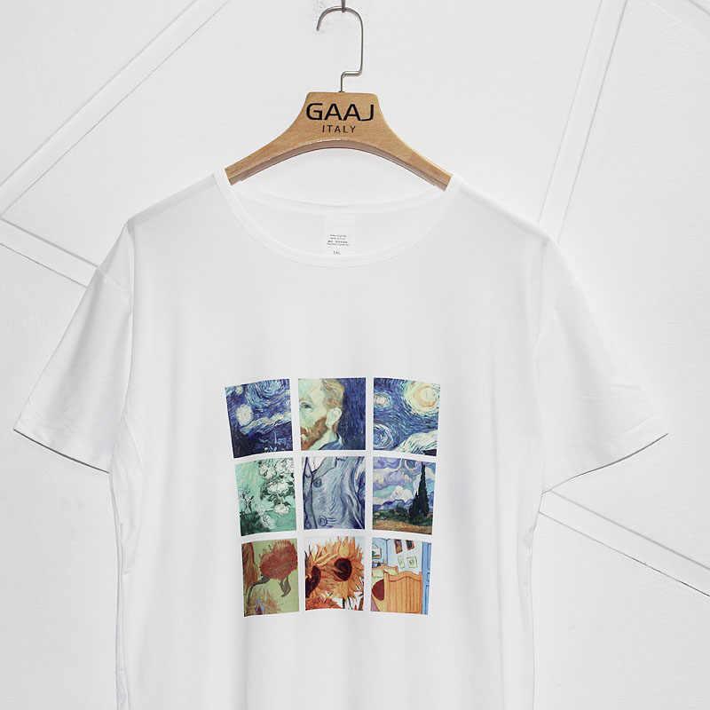 """GAAJ """"Картина Ван Гога"""" Женская футболка для любителей вина забавная футболка футболки с принтом модная одежда с круглым вырезом Женские футболки 5XL E4793 #"""