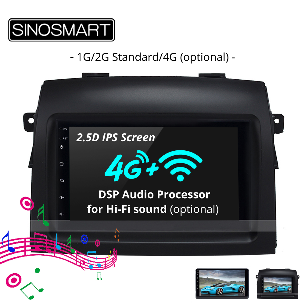 SINOSMART 2.5D IPS 1G/2G Car Audio GPS Navigation Player for Toyota Sienna 2004 10 2015 18 32EQ DSP, 4G SIM Card Slot Optional-in Car Multimedia Player from Automobiles & Motorcycles on Aliexpress.com | Alibaba Group