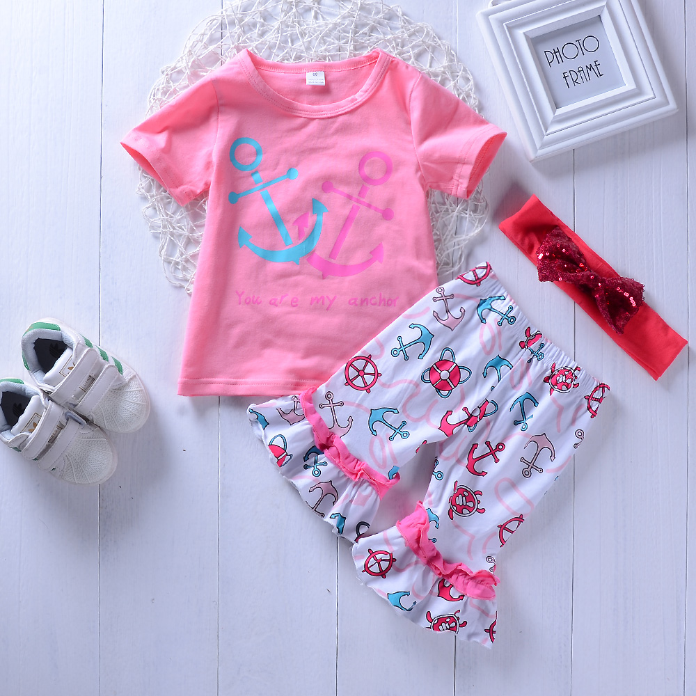 Kids girls clothes set Children Toddle girl Tops T-shrit + Shorts Summer casual suit for girls 2pcs sets 1-4Years ...