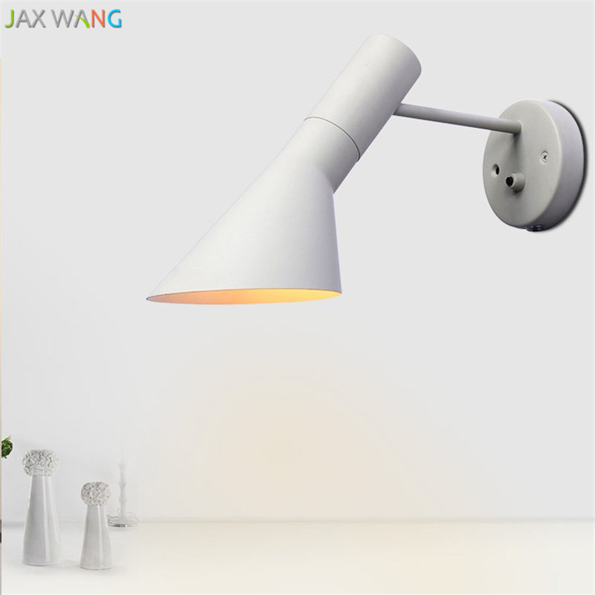 Nordic Designers Wall Lights Modern Iron AJ LED Wall Lamps Living Room Bedroom Bedside Lamps Indoor Decor Lighting wall sconce in LED Indoor Wall Lamps from Lights Lighting