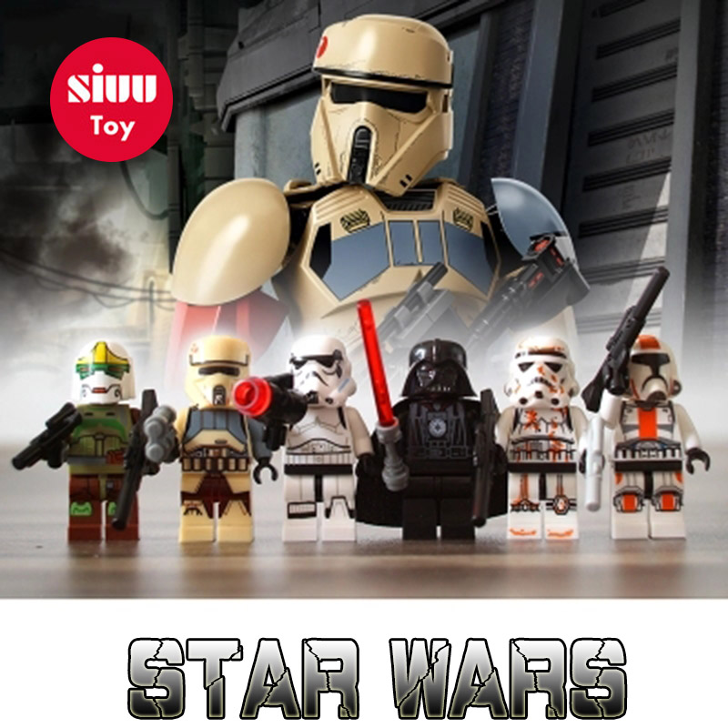 Legoing Star Plan Last Jedi Imperial Army Military Clone Trooper Stormtrooper Model Building Block STAR WARS Toy Figures