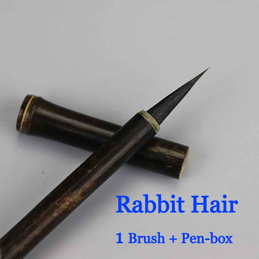 small Chinese Calligraphy Brush Rabbit Hair Writing Brush Pen Ink Brush Ink Brush Chinese painting supplies minimal japanese calligraphy brush line brush rabbit hair writing brush pen calligraphy painting art supplies stationary