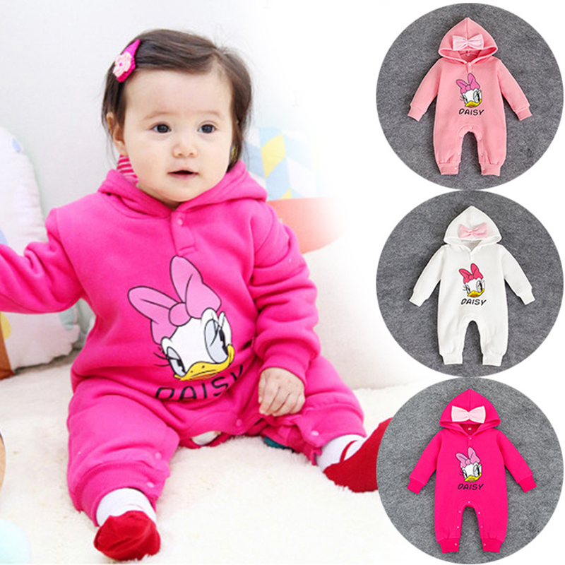 2016 new autumn winter newborn baby romeprs baby girls clothes jumpsuit rompers cartoon daisy kids boys infants clothing romper cotton baby rompers set newborn clothes baby clothing boys girls cartoon jumpsuits long sleeve overalls coveralls autumn winter