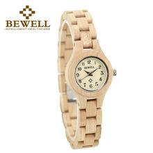 BEWELL Watch Women Brand Japan Quartz Ladies Wooden Watches Simple Fashion Lightweight Wristwatch Relogio Feminino 123A все цены